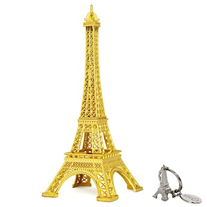 SiCoHome Eiffel Tower Decor,7.0inch,Gold,for Gifts,Party And Home