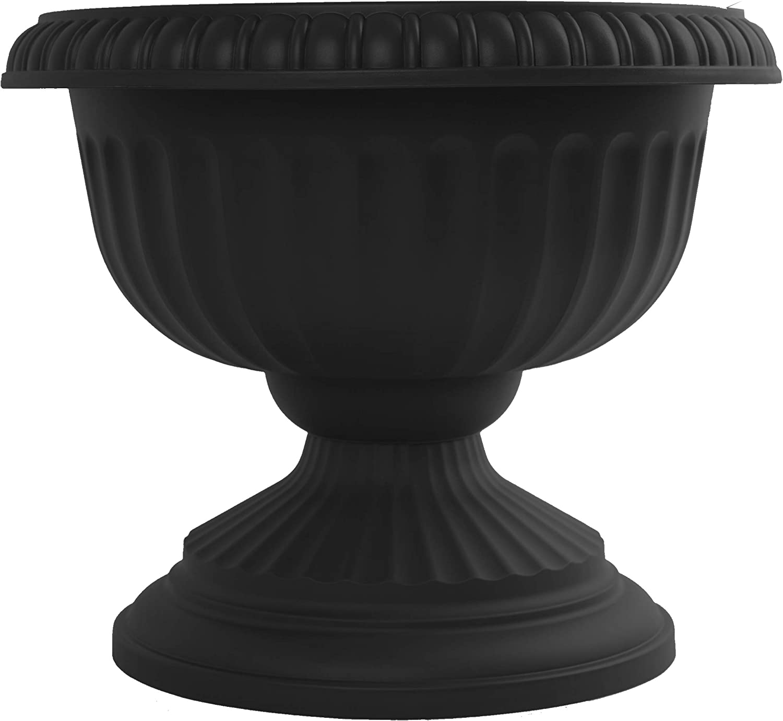 "Bloem GU18-00 Grecian Urn Planter, 18"", Black"