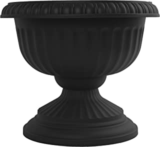"product image for Bloem GU12-00 GU12-10 Grecian Urn Planter 12"" Casper White, Black"