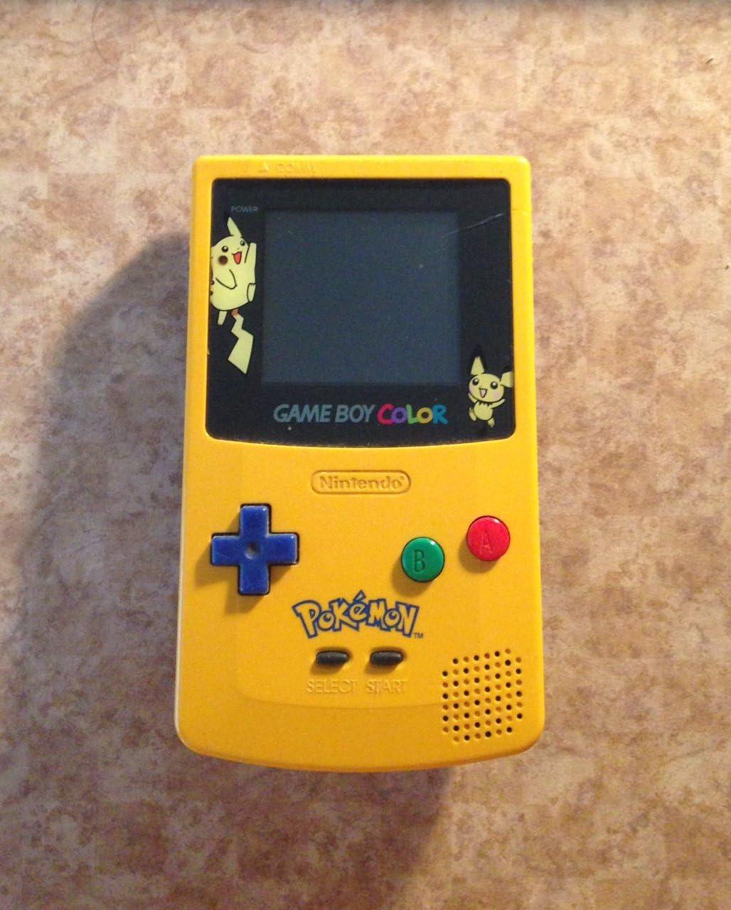 Nintendo game boy color youtube - Amazon Com Game Boy Color Limited Pokemon Edition Yellow Nintendo Game Boy Color Video Games