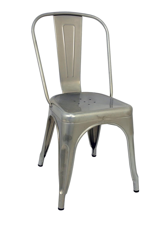 t/ürkis 2/St/ück 53.50/X 52/X 73/cm Edelstahl Die spanische Stuhl t/ólix Pack St/ühle mit R/ückenlehne