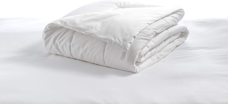 DeBora Rachelle Luxury Duvet Comforter Set Hypoallergenic 100% Organic Cotton Down Alternative Quilted Loops Keep Comforter Secure Allergy Free Laundry Bag (White, King-Calif King-Split King, Summer)