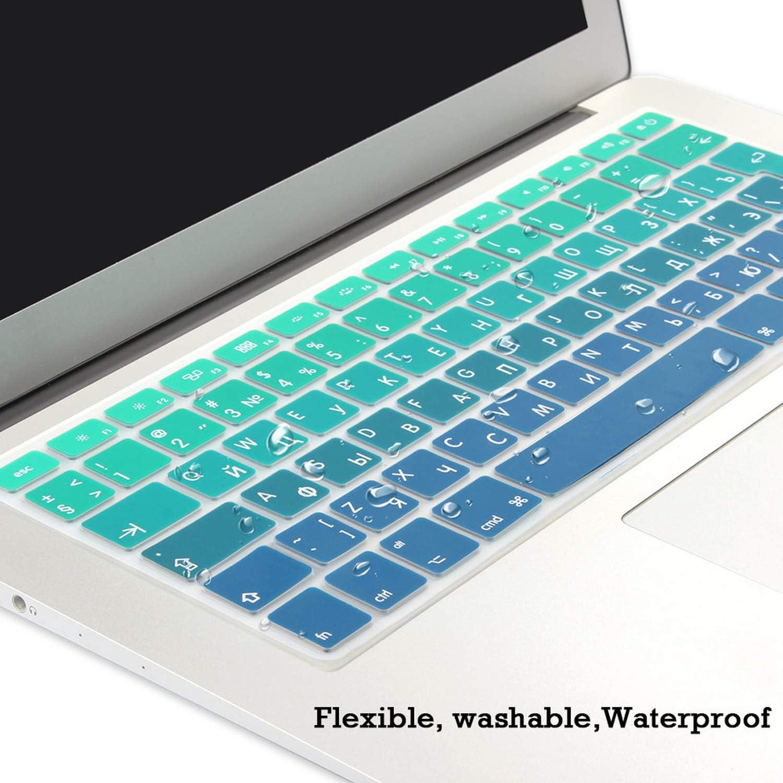 EU UK Soft Silicone Keyboard Cover Protector Skin for MacBook Pro Air 13 15 17 Retina Display Cyrillic Language-EU Russian Grey