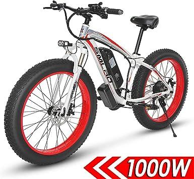 QDWRF Bicicleta Eléctrica Mountain Ebike 1000W, 26