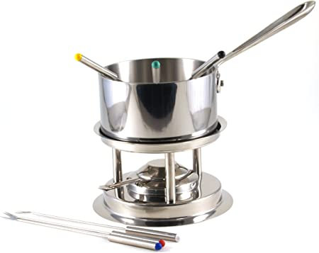 Estia Gourmet Polished 18 10 Stainless Steel Fondue Accessory Set