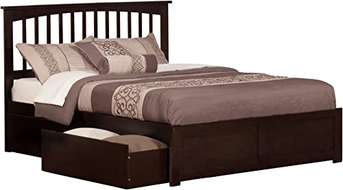 Atlantic Furniture Mission Bed, Queen, Espresso