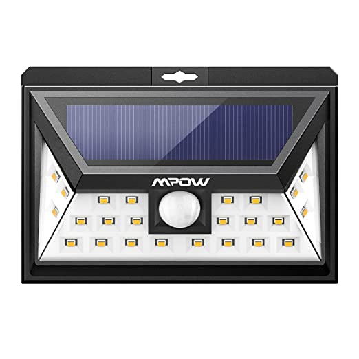 53 opinioni per Lampada Solare Calda Mpow 24 LED Lampada Solare Grandangolare Elettrolitica,