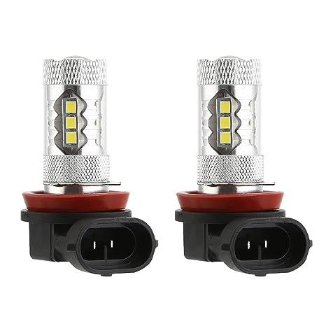 CICMOD 2 x H11/H8 80W 2835 16SMD Universal Bombillas LED para Luz Antiniebla de