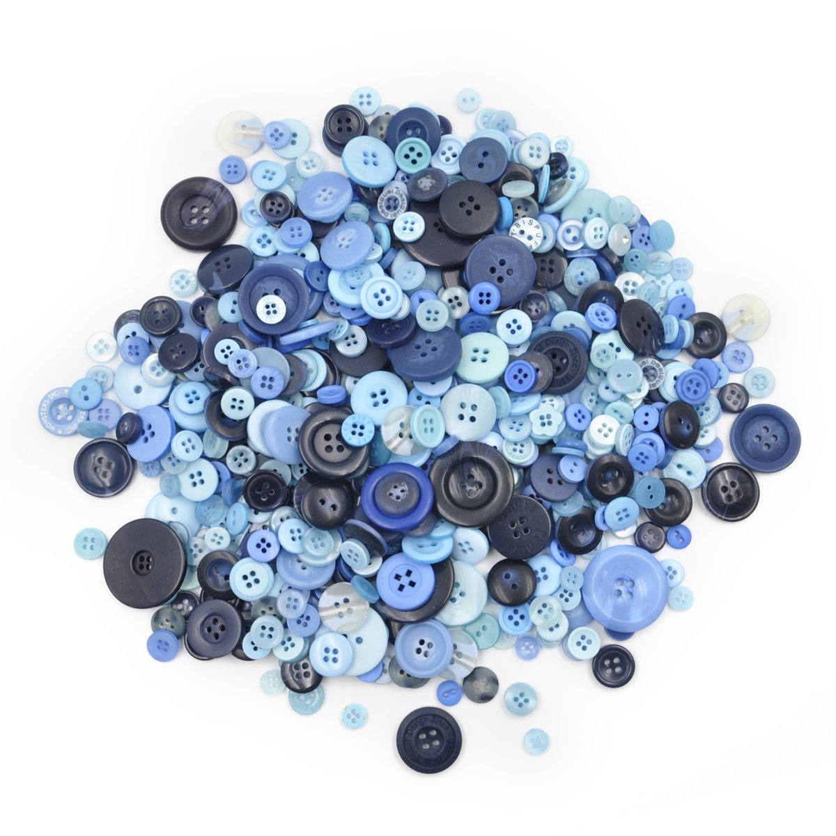 Aspire 660 PCS Resin Buttons for Kids DIY Crafts Assorted Sizes Brown