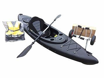 Cambridge Solo Sentarse en Kayak de Pesca con Carrito + Libre Spray Deck, Unisex,