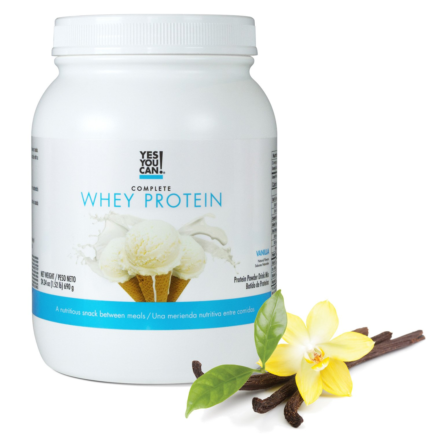 Yes You Can! Complete Whey Protein, a Nutritious Snack Between Meals, 15 Grams of Protein, Helps Lose Weight and Build Muscle, Batidos de Proteína ...