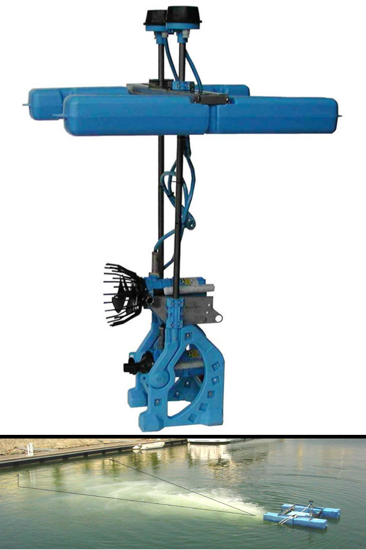 AirStream Pro - High Volume Jet Aerator Water Circulator for Lake, Pond, Marina - Get Rid of & Reduce Muck & Aquatic Weeds (1hp Float Model)