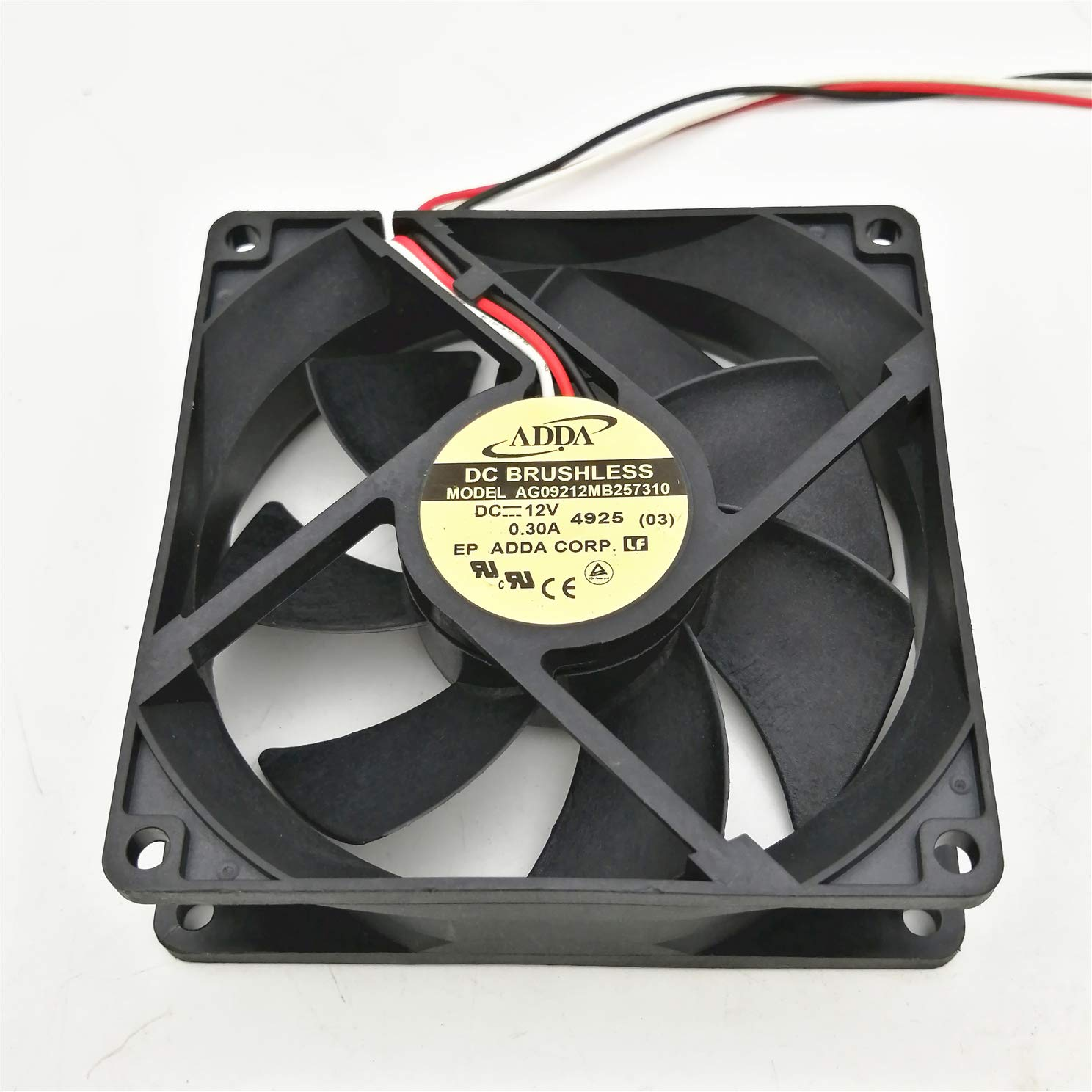 for ADDA AG09212MB257310 12V 0.30A 9025 9CM 3-Wire Cooling Fan