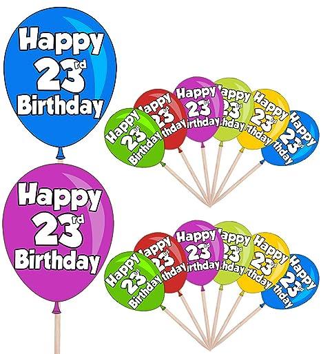 Globo de cumpleaños número 23 para adultos, mujeres, hombres ...