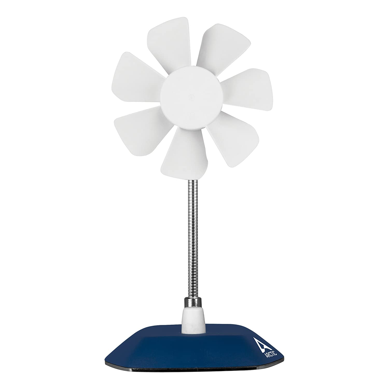 Deep Blue ARCTIC Breeze 800-1800 RPM USB Desktop Fan with Flexible Neck and Adjustable Fan Speed