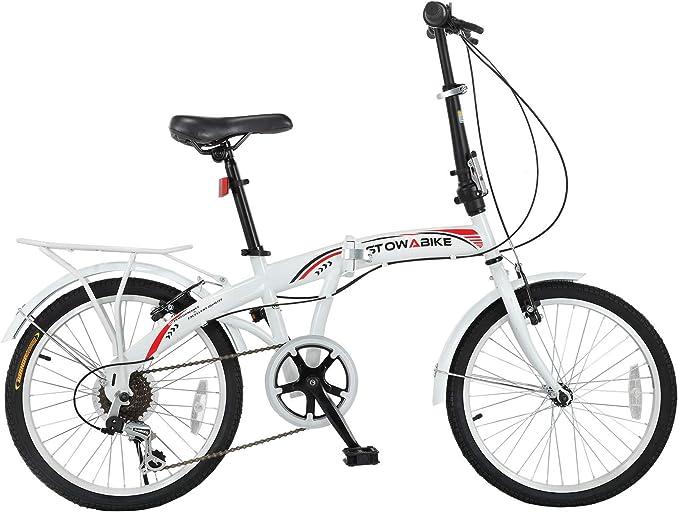 "Best Budget Folding Bike: Stowabike 20"" Folding City V3 Bike"