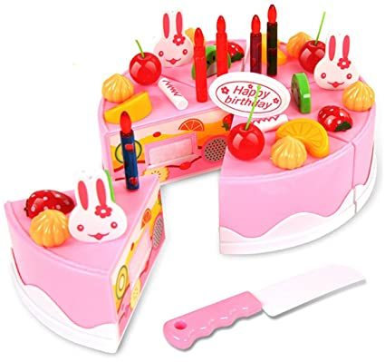 Webby Musical DIY Birthday Cake Toy Multi Color 37 Pieces