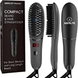 Aberlite Pocket - Compact Beard Straightener for Men - For Short Beard & Long Beard - Beard Straightening Heat Brush…