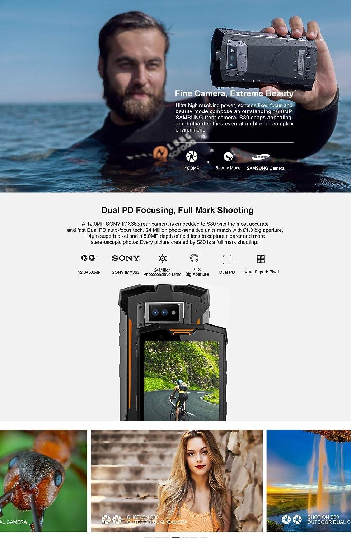 Smartphone sin Contrato, DOOGEE S80 4G Triple prueba Outdoor Móvil ...