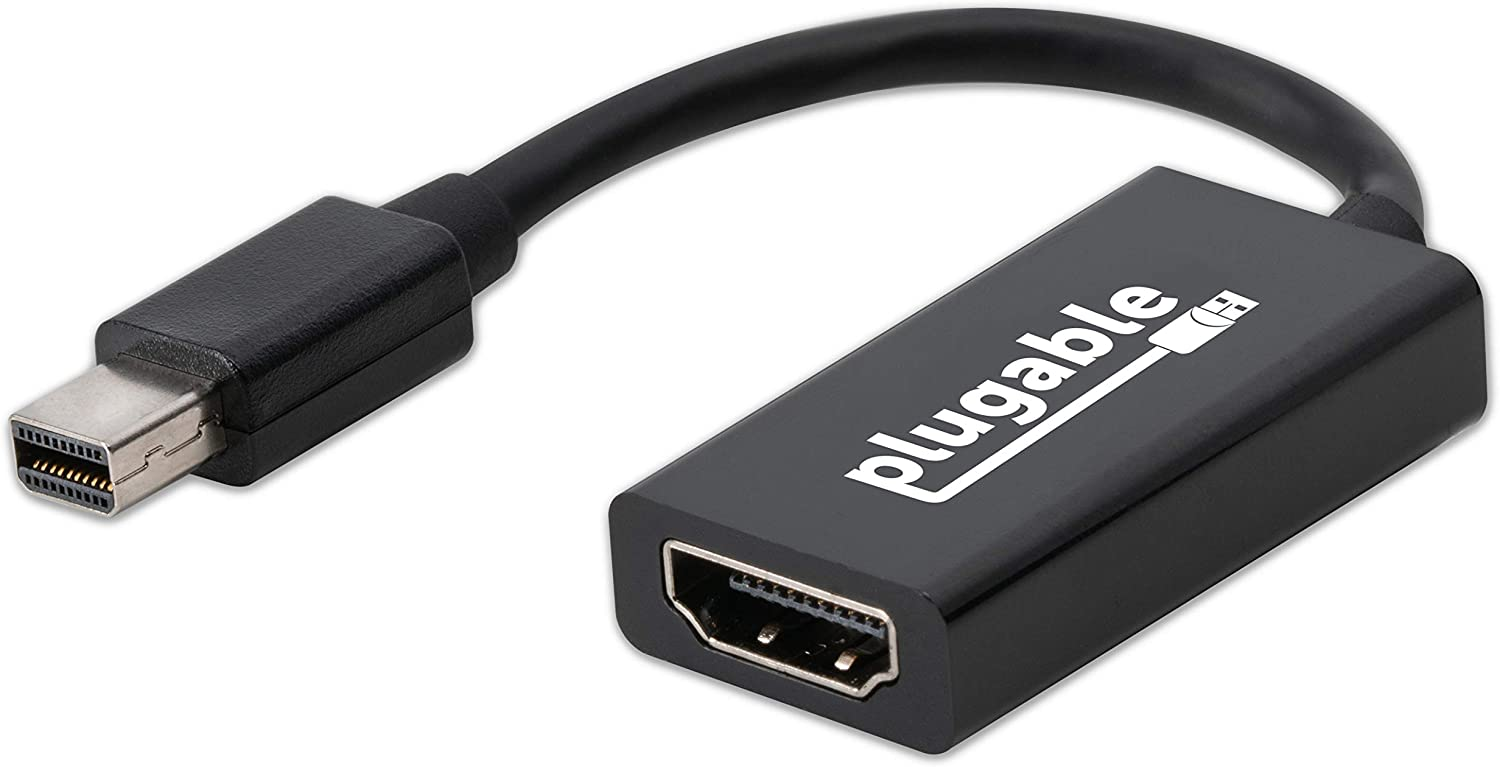 Plugable Active Mini DisplayPort (Thunderbolt 2) to HDMI 2.0 Adapter (Supports Mac, Windows, Linux and Displays up to 4k UHD 3840x2160@60Hz)