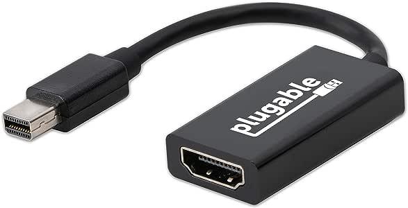 Plugable Active Mini DisplayPort a Adaptador HDMI 2.0 Soporta Pantallas de hasta 4k//UHD//3840x2160@60Hz