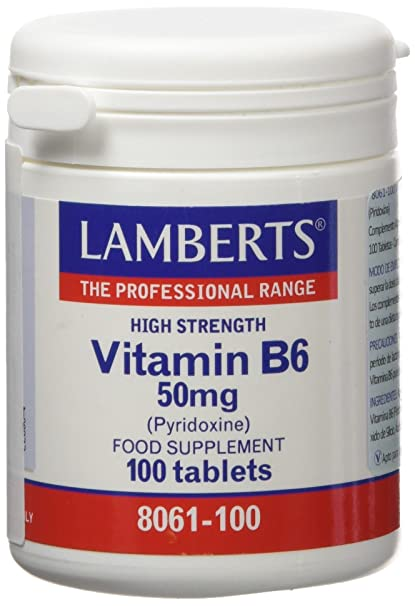 Lamberts Vitamina B6 50mg - 100 Tabletas