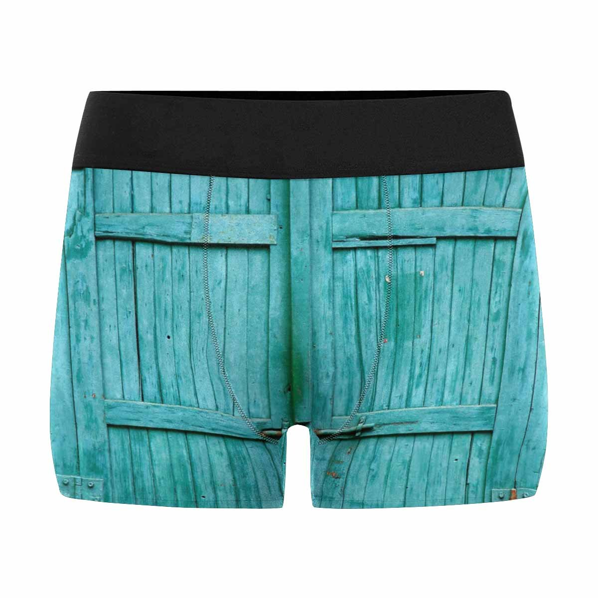 INTERESTPRINT Custom Mens All-Over Print Boxer Briefs Old Wooden Gate with Faded Paint XS-3XL
