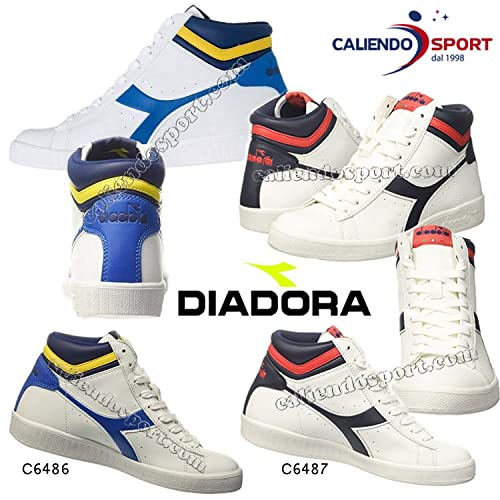 Diadora Scarpa Game P High 160277 C6486 Bianco Blu Uomo Donna (EU 40)   Amazon.it  Sport e tempo libero 3c54fad858a