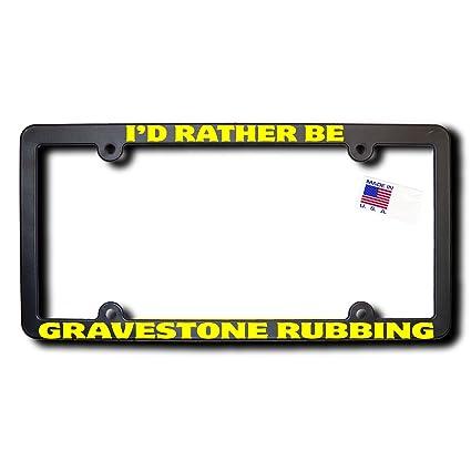 Amazon.com: James E. Reid Design I\'d Rather Be GRAVESTONE RUBBING ...