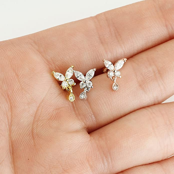 Tragus piercing-trébol remolque circonita piercing oreja piercing Helix #683
