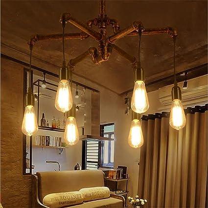 Atmko®Iluminación colgante Lámparas de araña Pipa de agua ...