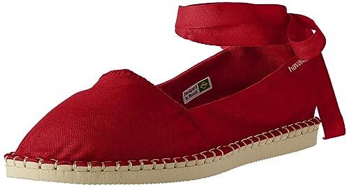 Havaianas - Zapatillas para Mujer Rojo Rojo: Amazon.es: Zapatos y complementos
