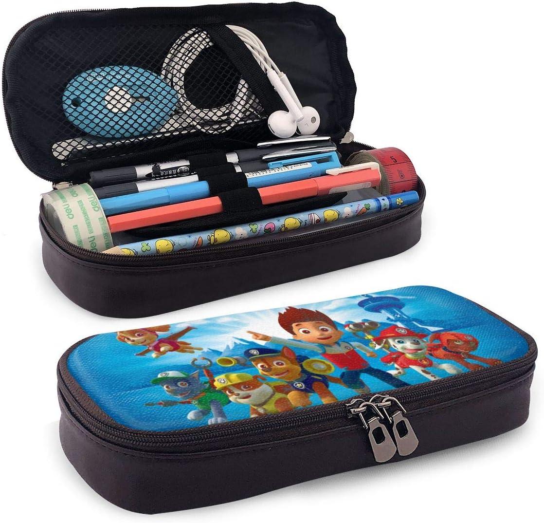 PKLUAS - Estuche de Felpa para lápices con Doble Cremallera, diseño de Paw Patrol (7,8 x 3,5 x 1,5 Pulgadas), PU, Negro, Talla única: Amazon.es: Hogar