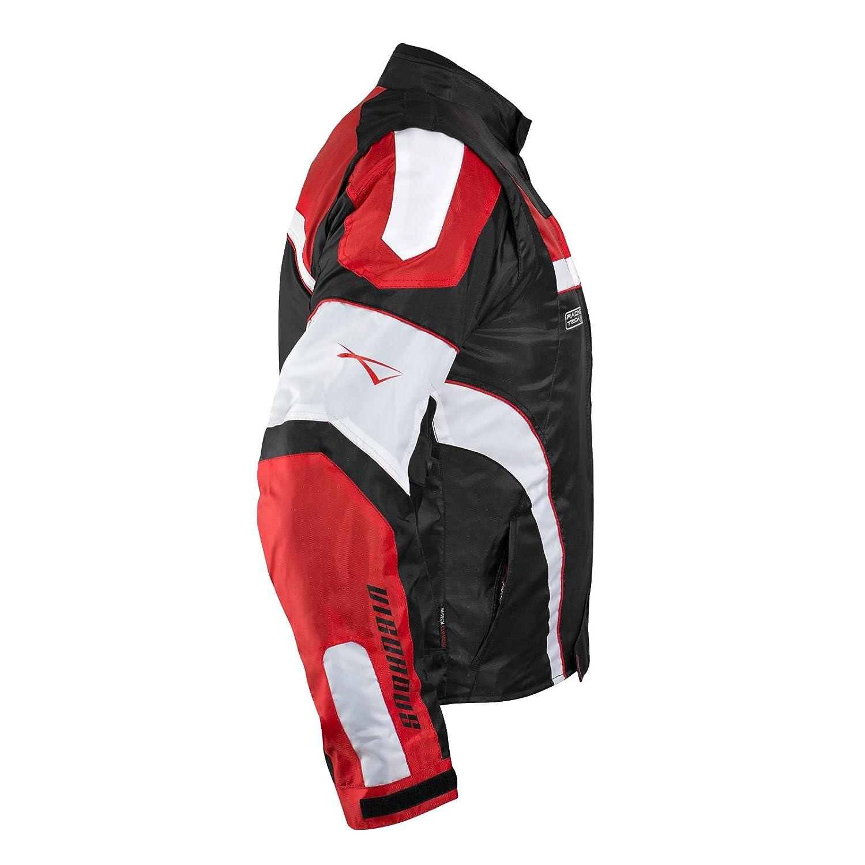 Giacca Moto Manica Staccabile Tessuto Protezioni CE Sfoderabile Gilet Blu M