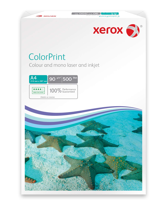 Xerox 003R95254 Rame de 500 feuilles de papier A4, 90 g / m², pour imprimante laser couleur (Blanc)