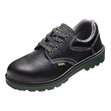 MagiDeal Zapatos de Seguridad para Hombre de Punta de Acero Botas de Senderismo Zapatos de Suela de Goma - Negro-EU 45 US 11.5 UK 10.5: Amazon.es: Deportes ...