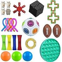 Fidget Pack, 30Pcs Fidget Toys Cheap Fidget Toys Set Sensory Fidget Toys for Kids Adults, Simple Dimple Fidget Toys…