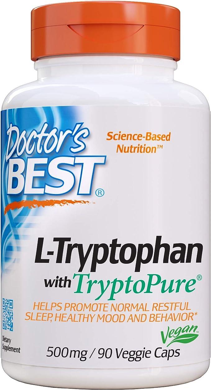 Doctors Best L-Triptófano Con Tryptopure, 500Mg - 90 Vcaps 90 ...