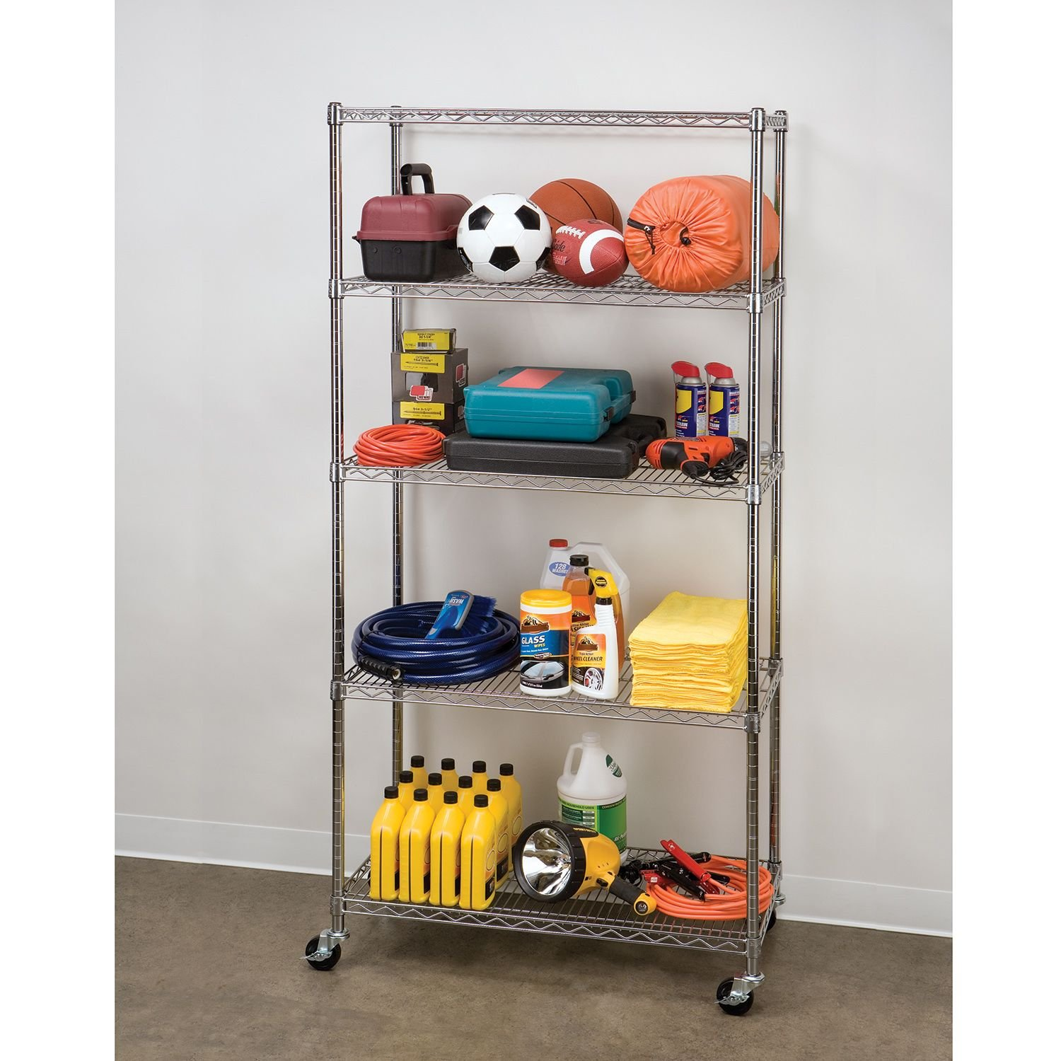 Seville Classics 5-Tier Commercial Shelving with Wheels by Seville Classics (Image #3)