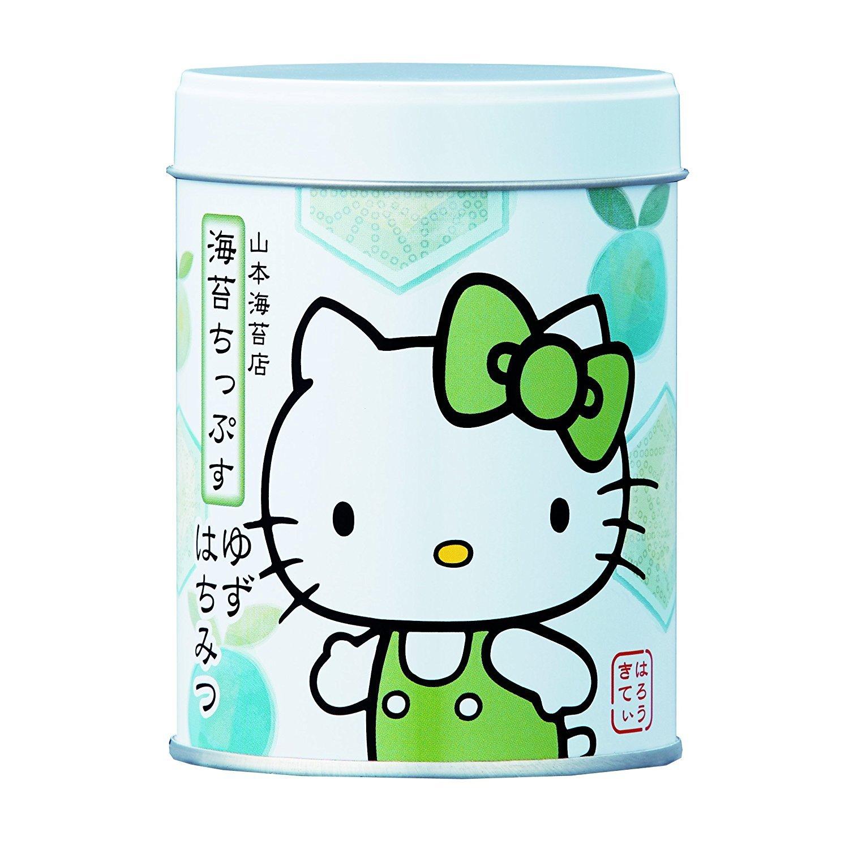 Yamamoto-Noriten x Hello Kitty Seaweed Chips Flavored Seaweed Assorted 4 flavors(Plum, Sesami, Yuzu Honey, Curry) Made in Japan [Japan Import] by Yamamoto-Noriten (Image #4)