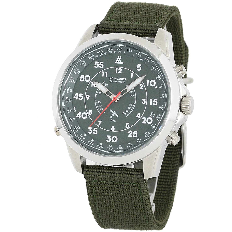 【LAD WEATHER】 腕時計 GPS 受信 時刻補正 ミリタリーウォッチ 100m防水 メンズ B01N5O642I