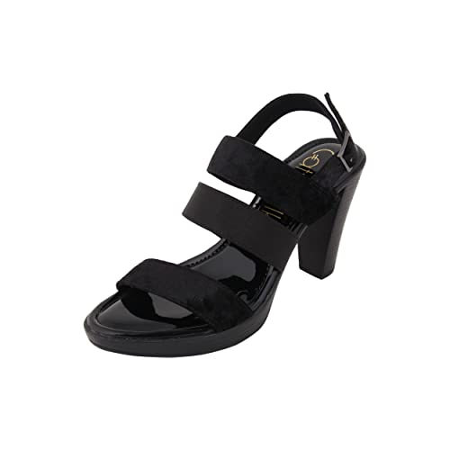 27190b927 Catwalk Black Cone Heel Sandals  Buy Online at Low Prices in India ...