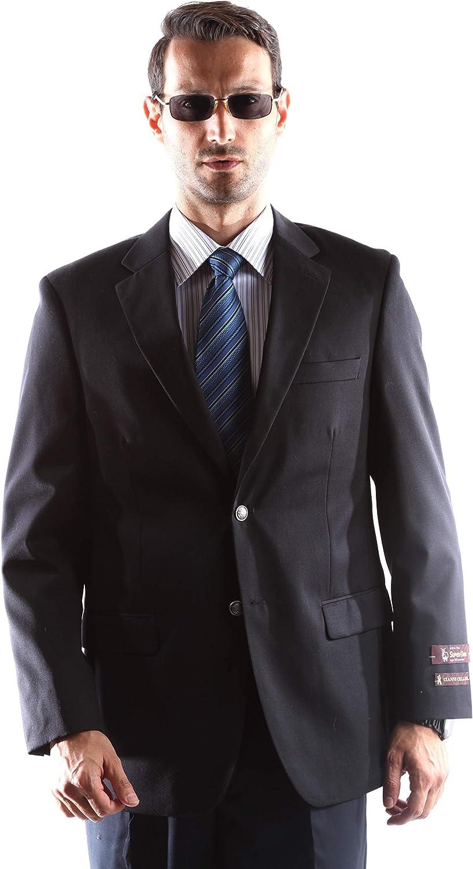 Men's Single Breasted 2 Button Super 110's 100% Wool Blazer
