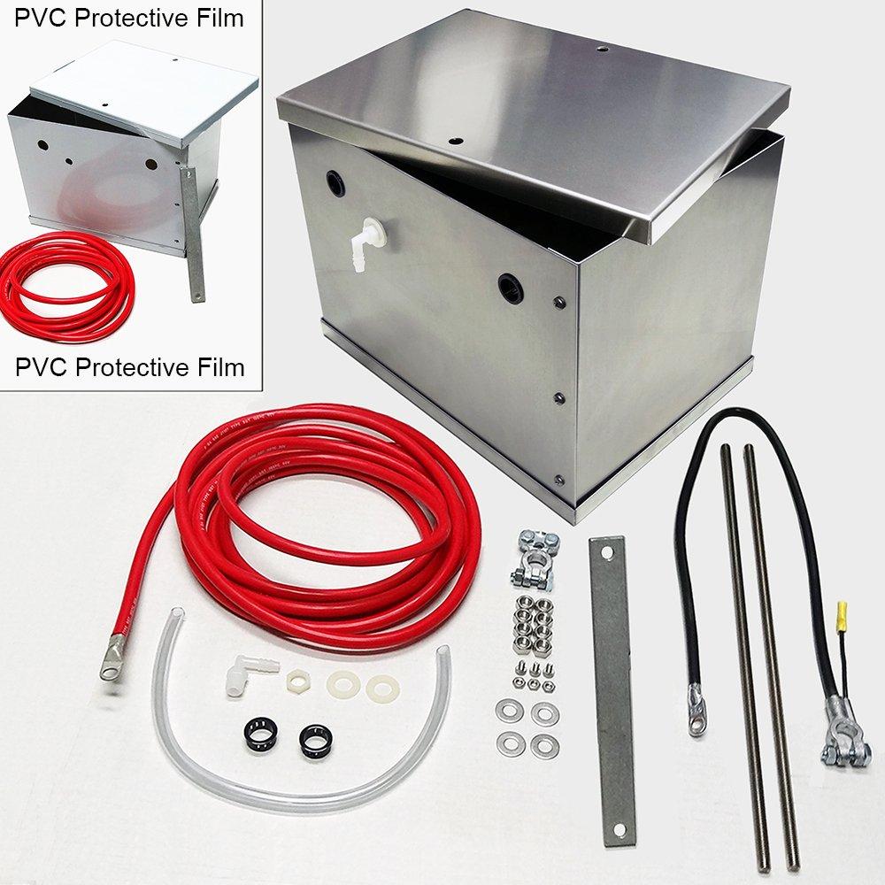 UPR NHRA Legal Aluminum Battery Box Kit 1979-2013 Mustangs