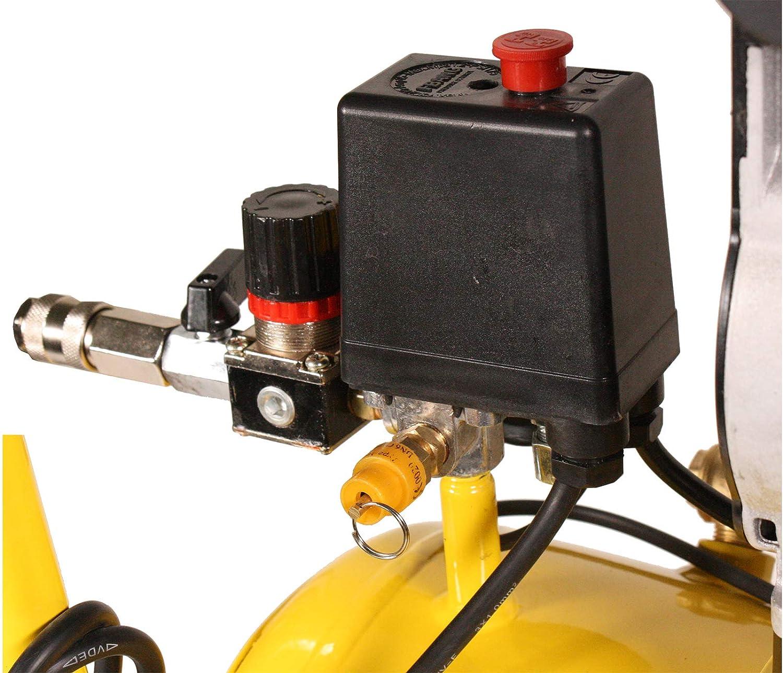 Druckluftkompressor WELDINGER Fl/üsterkompressor FK 90 plus /ölfrei 980 W Luftabgabe 120 l