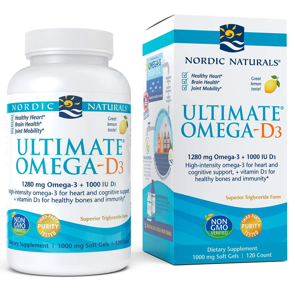 Nordic Naturals - Ultimate Omega-D3, Supports Healthy Bones and Immunity, 120 Soft Gels by Nordic Naturals