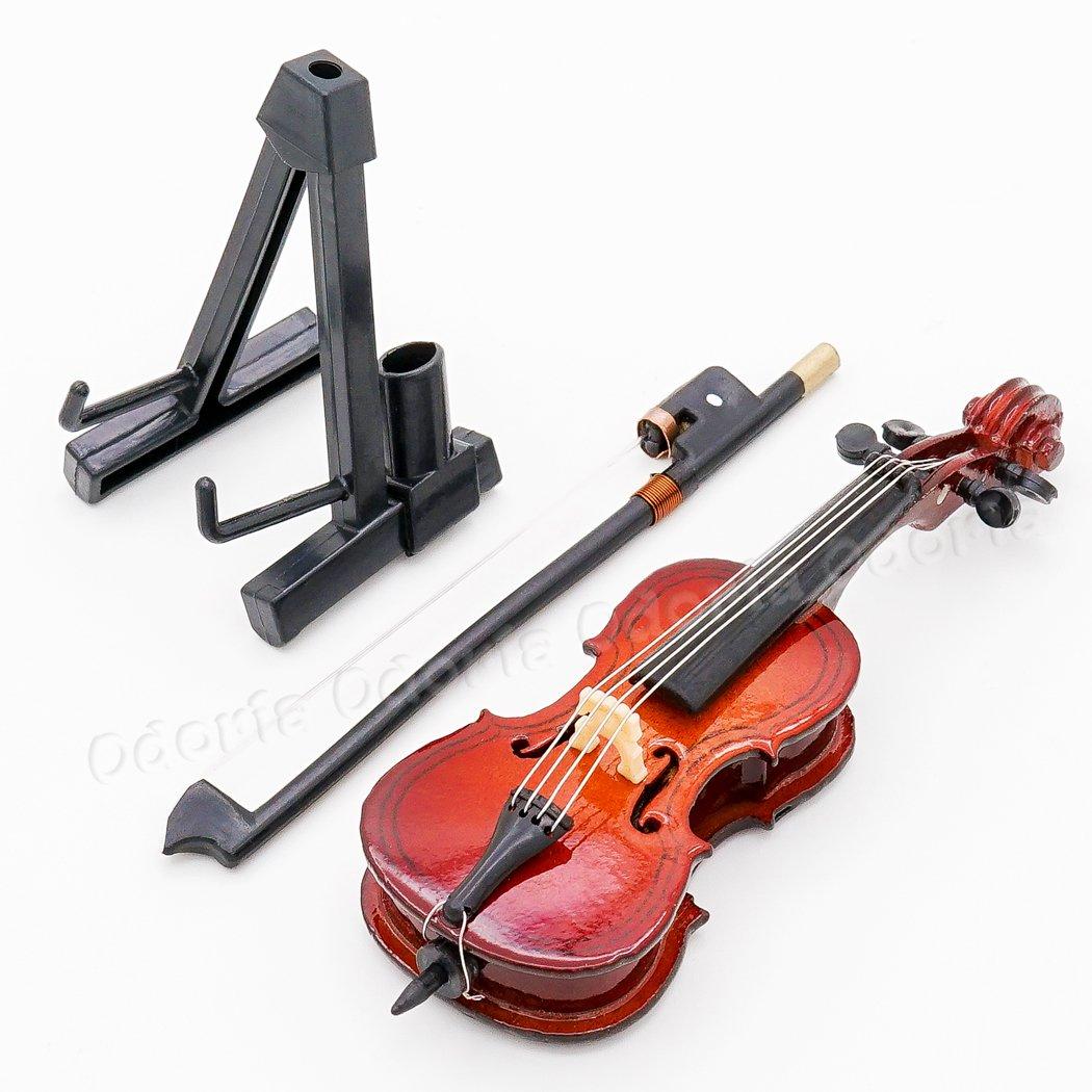 Amazon.es: Odoria 1/12 Miniatura Violonchelo de Madera con Caso y Arco Musical Instrumento Musical para Muñecas: Juguetes y juegos