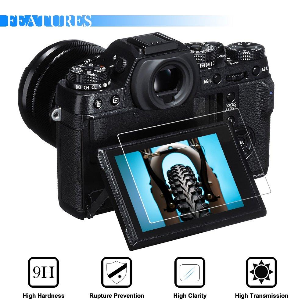 AFUNTA 2 Pack Camera Anti-Scratch Tempered Glass Film for DSLR Camera Screen Protector Compatible Fujifilm X-T1 X-T2