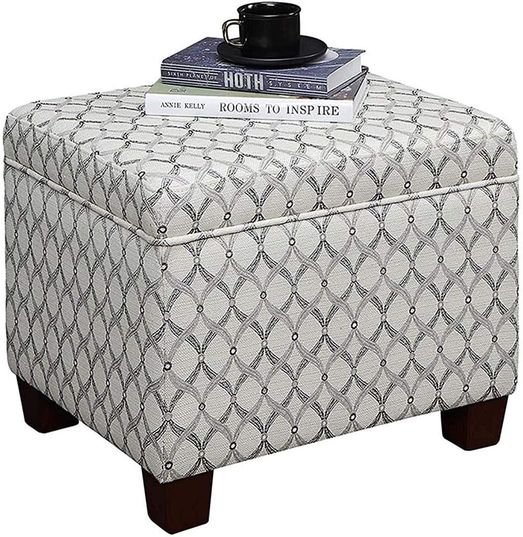 Amazon Com Convenience Concepts Madison Storage Ottoman Ribbon Pattern Fabric Furniture Decor