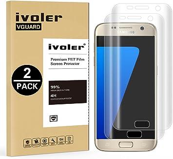 Samsung Galaxy S7 Protector de Pantalla [3D Full Coverage], iVoler ...